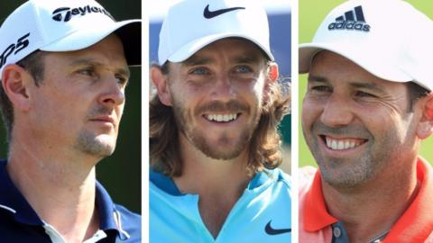 Justin Rose, Tommy Fleetwood and Sergio Garcia