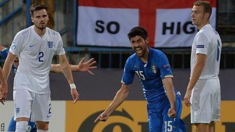 Marco Benassi celebrates Italy's winner
