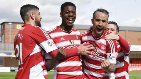 Hamilton hammered Dundee 4-0 to finish