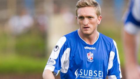 Cowdenbeath player Dean Brett