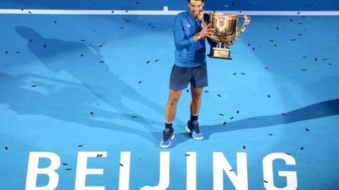 Nadal wins sixth title of 2017 after Kyrgios meltdown
