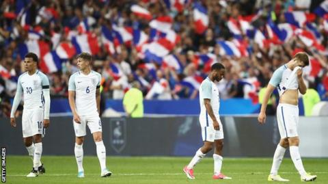Tributes to Manchester and London terror attack victims at France v England
