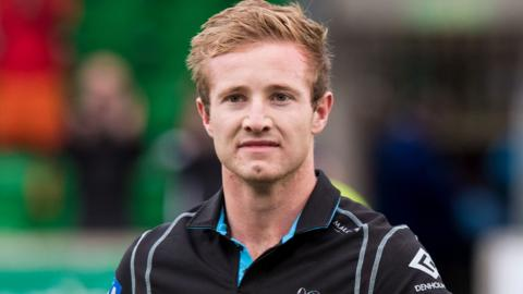 Brandon Thomson in Glasgow Warriors colours