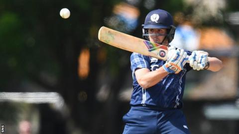 Scotland's Calum MacLeod in action against Zimbabwe