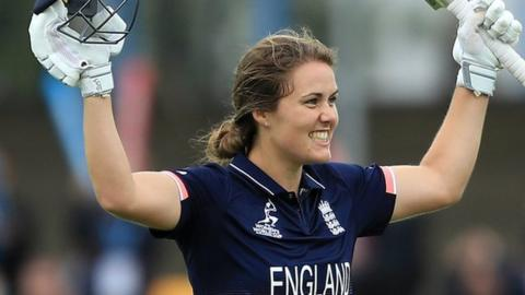 Sciver's brilliant century guides England to victory