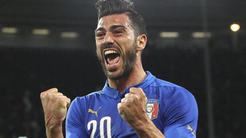 Italy striker Graziano Pelle