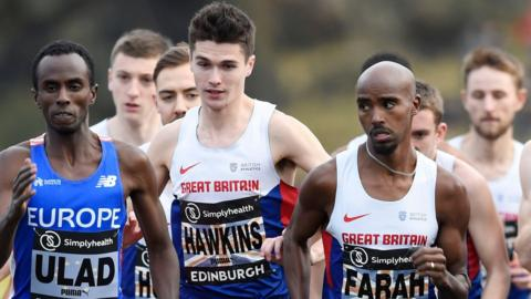 Callum Hawkins and Mo Farah