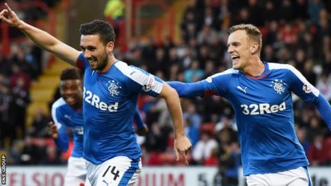 Dean Shiels (right) will be reunited with former Rangers team-mate Nicky Clark at East End Park