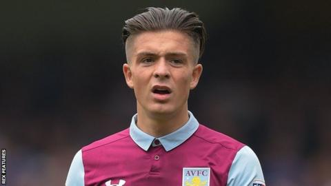 Aston Villa winger Jack Grealish