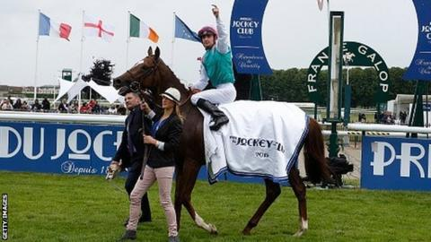 New Bay after winning the French Derby