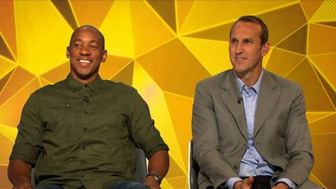 Dion Dublin and Mark Schwarzer