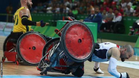 Wheelchair rugby is an event at the Paralympics. Australia faced the USA in the gold medal match in Rio
