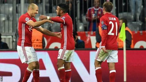 Arjen Robben, Thiago and Phillip Lahm