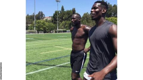 Lukaku and Pogba keeping fit this summer