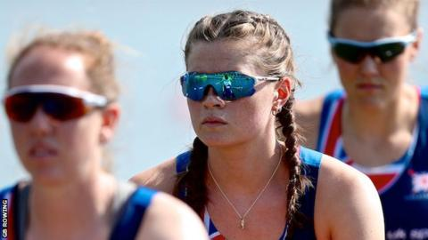 Rebecca Shorten was part of the Great Britain women's eight in Lucerne