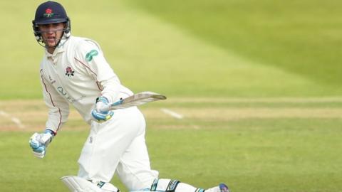Lancashire batsman Liam Livingstone made his second first-class century of the summer