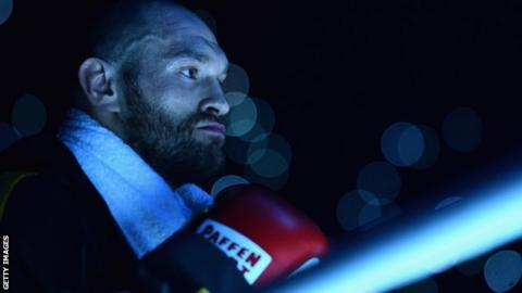 "Tyson Fury says he will deal with unified heavyweight champion Anthony Joshua ""like a cat playing with a ball of wool"" when he returns to boxing"