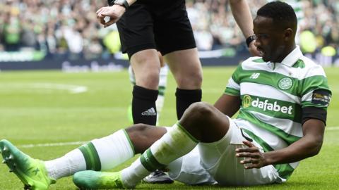 Moussa Dembele was injured at Hampden
