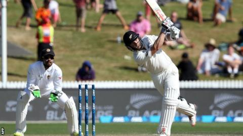 New Zealand batsman Kane Williamson hits out