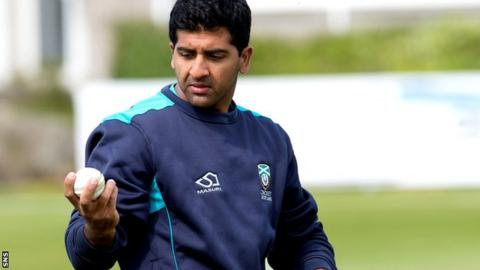 Scotland's all-time leading wicket-taker Majid Ha