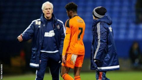Ainsley Maitland-Niles and Mick McCarthy