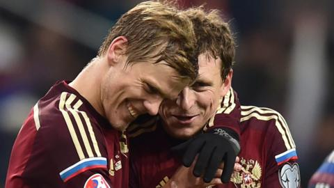 Alexander Kokorin (left) and Pavel Mamaev