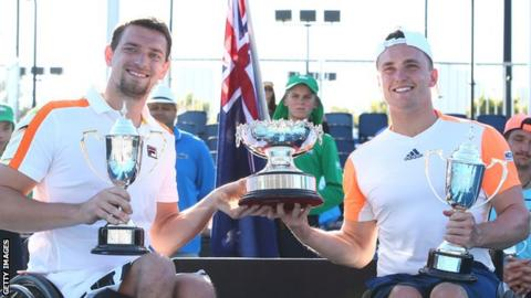 Gordon Reid wins wheelchair doubles at Australian Open