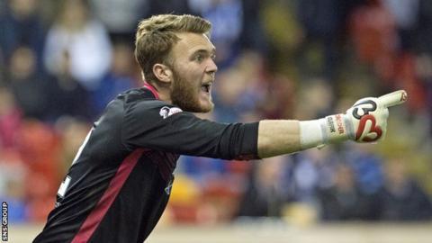 St Johnstone goalkeeper Zander Clark