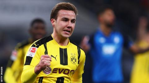 Borussia Dortmund's Mario Gotze will not play again this season - club
