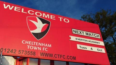 Cheltenham Town fixture board