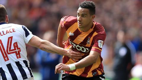 Bradford City left-back James Meredith
