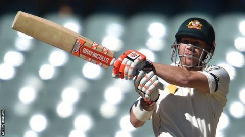 Australia's David Warner pulls