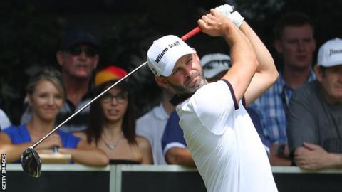 American Paul Peterson (62) leads Joburg Open before first-round play suspended