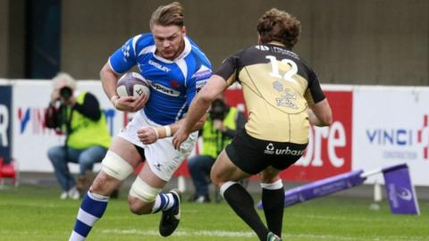 Lewis Evans in action for Dragons