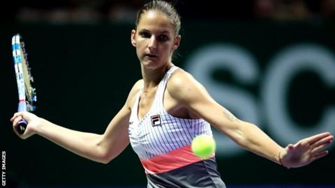 Pliskova thrashes Muguruza to reach WTA Finals semis