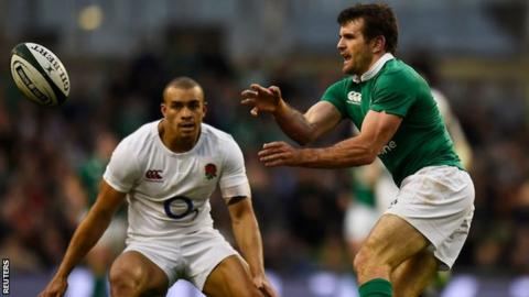 Jared Payne in action for Ireland against England