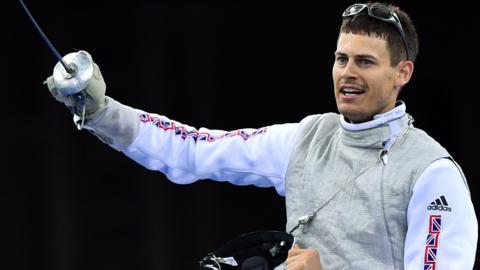 British fencer Richard Kruse