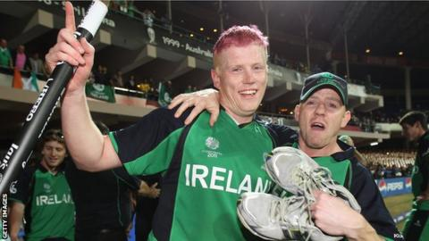 Ireland all-rounder Kevin O'Brien after his blistering century helped beat England in the 2011 World Cup