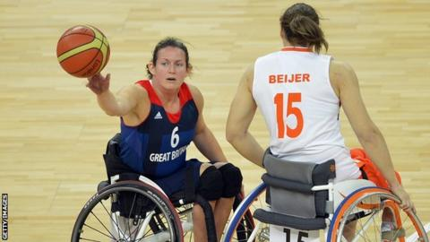 Wheelchair basketball player Clare Griffiths