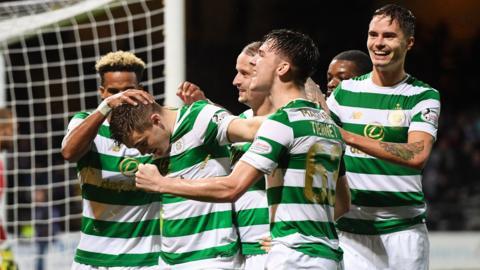 Celtic's James Forrest celebrates