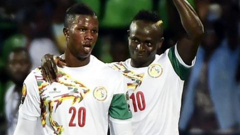 Sadio Mane (right) and Keita Balde Diao
