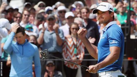 Jason Day (right) and Rory McIlroy (left)