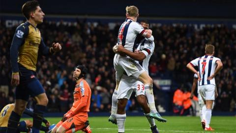 West Brom won the reverse fixture 2-1, ending a nine-game winless run against the Gunners.