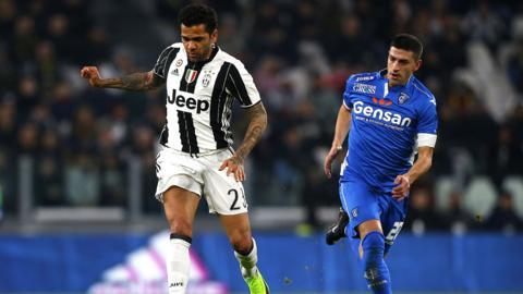 Juventus defender Dani Alves