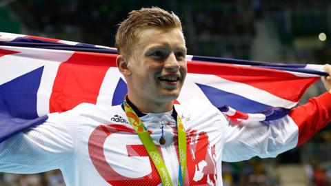 British swimmer Adam Peaty
