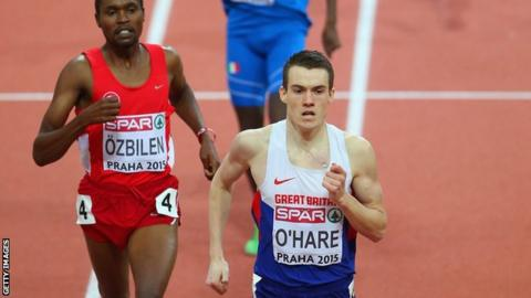 Chris O'Hare at the European Indoor Championships
