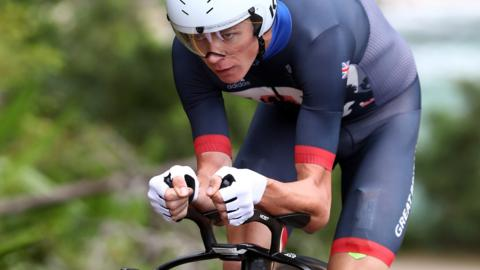 Chris Froome cycling for Britain at 2016 Rio Olympics