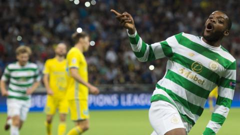 Olivier Ntcham celebrates