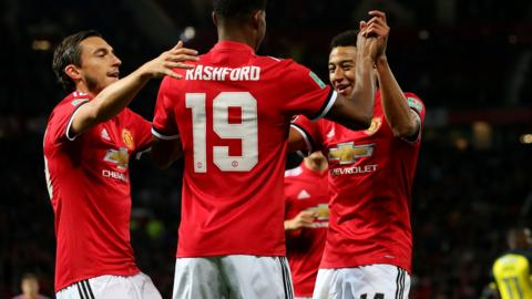 Marcus Rashford celebrates