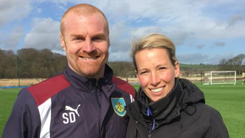 Burnley boss Sean Dyche and Rachel Brown-Finnis